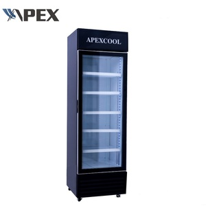 Best Seller free standing display refrigerating cooler showcase upright refrigerator