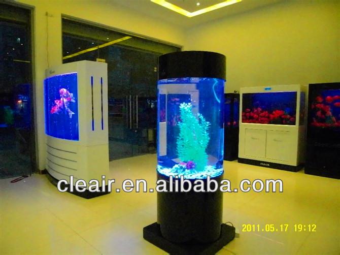 Led Light Round Shape Cleair Acrylic Aquarium