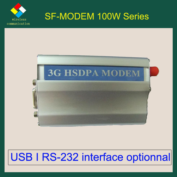 SF-M100W 3G WCDMA Modem with HC25 high speed single port modem Support USB or RS232 interface