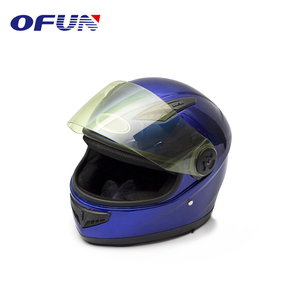 OFUN Factory Supply German Style Blue Racing Motorcycle Helmets