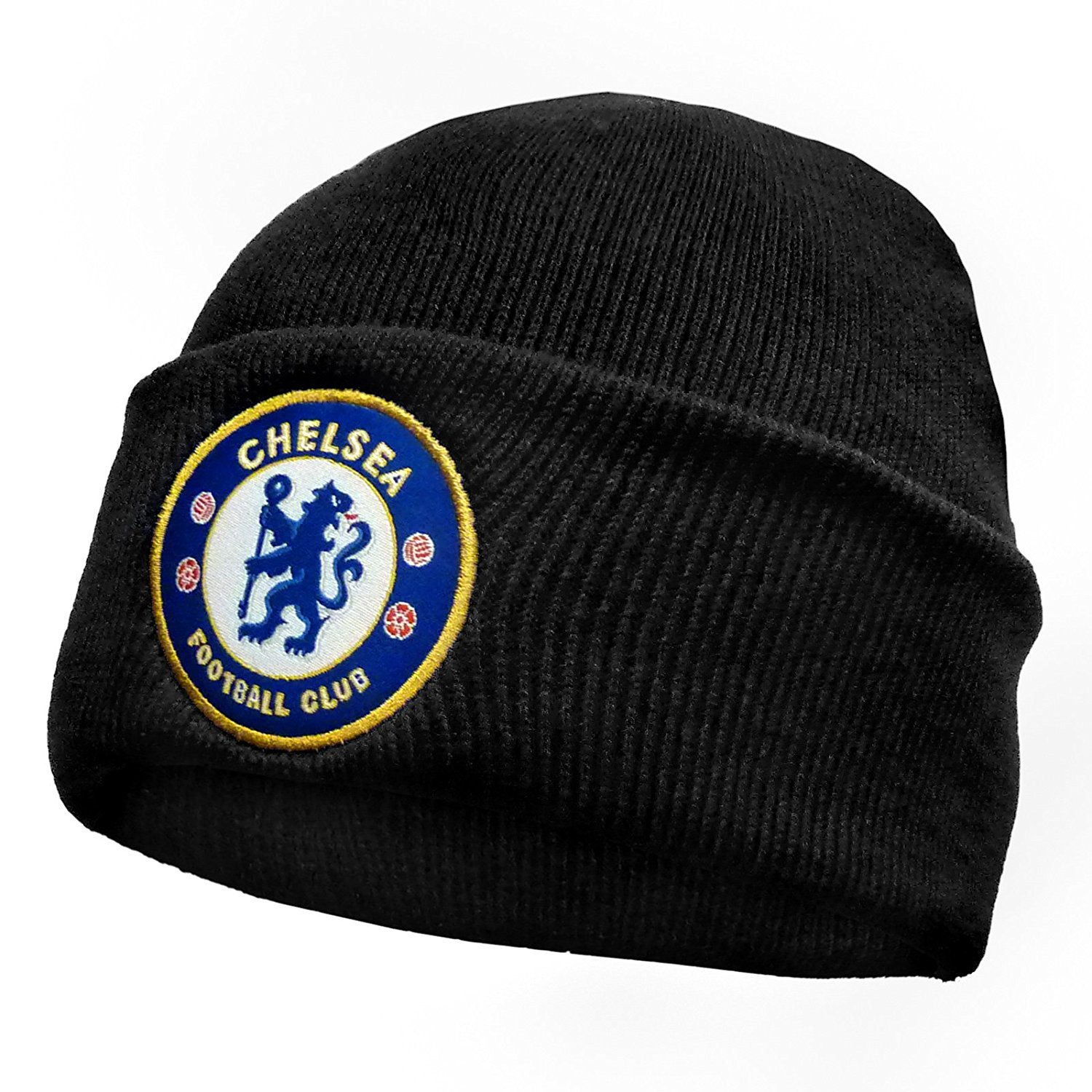 32b2f885325 Get Quotations · Chelsea Football Club Official Soccer Gift Knitted Bronx  Beanie Hat Crest