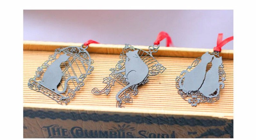 Cute Cat Metal Bookmark