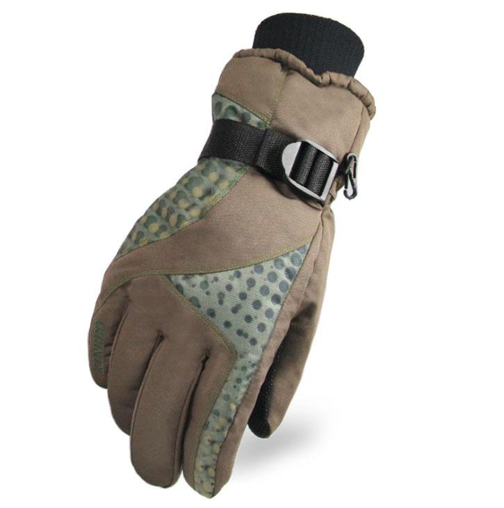 Cheap winter warmest mens ski gloves-in Skiing Gloves from