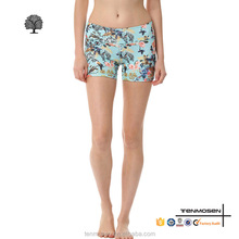 Full digital printing yoga shorts dri fit woman's fitness short pants body fitted gym wear