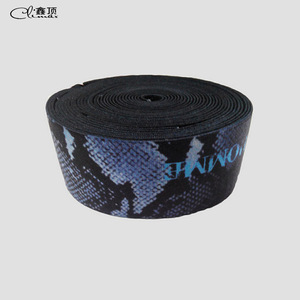 New design Custom printed style nylon pp material elastic tape band belt for swimwear clothes