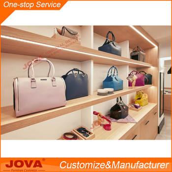 Elegant Handbag Display Wall Lighting Bag Cabinet