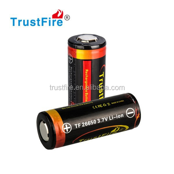 26650 li-ion batteries 5000 mAh rechargeable lithium battery 3.7V Ecig mod 26650 with PCB