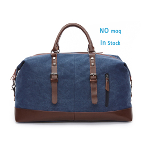 2019 Vintage cotton wholesale duffle bag custom oem weekend bag men travel canvas duffel bag