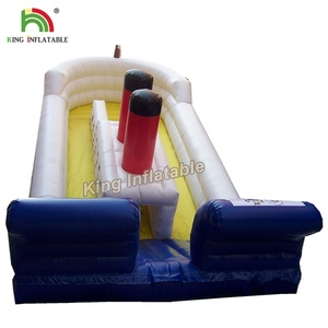 Inflatable Boat Slide Giant Inflatable Dry/Wet Slide For Sale Double Lane