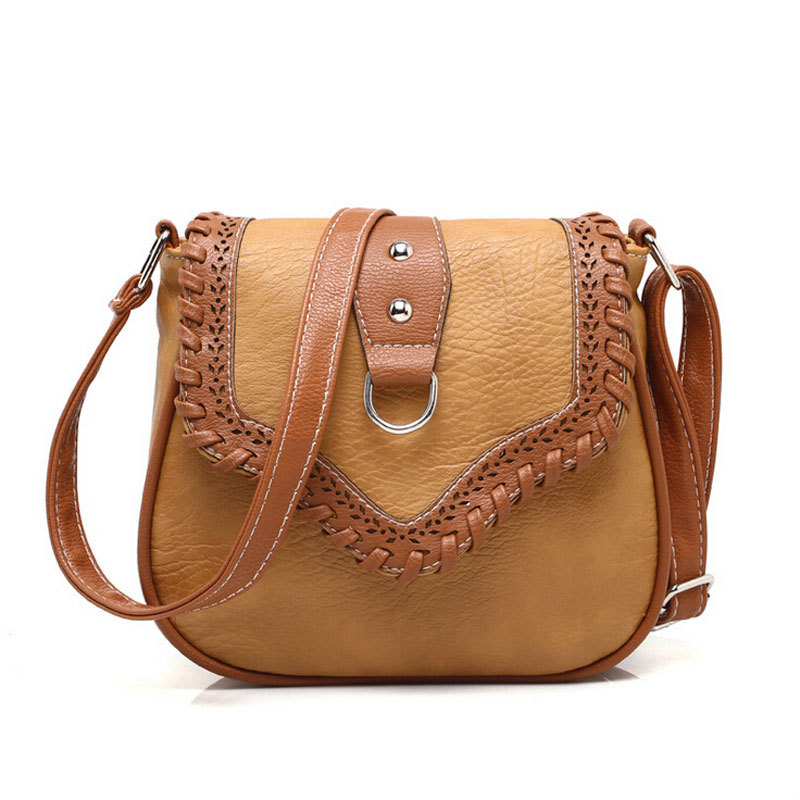Get Quotations · Hollow vintage women bag leather handbags women messenger  bags brand desigual ladies shoulder bag crossbody 8 532abf9623d98