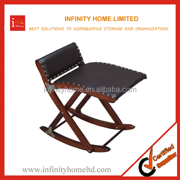 Wooden Foldable Rocking Footstool Foot Rocker