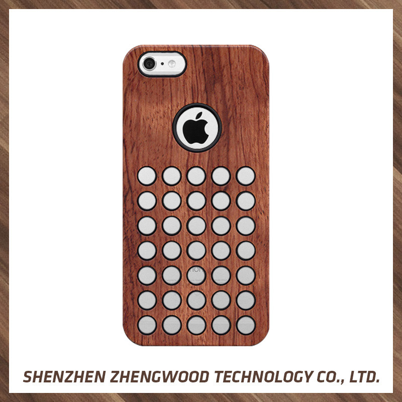 Best price of waterproof wooden mobile phone case OEM wood mobile case for iphone 7