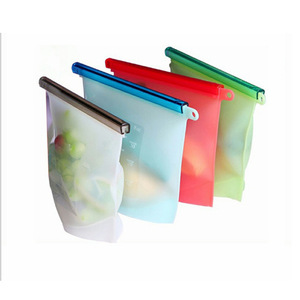 Wholesale 1000 ML Silicone Food Storage Bag Reusable Silicone Food storage Bag Silicone Bag For Food Storage