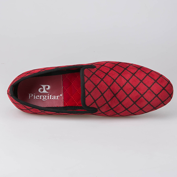 Shoes Plaid Loafers Factory Men Guangzhou Red Fgvzwz