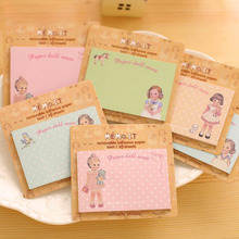 1Pcs New Russia N Korea Stationery European And American Doll Stickers Sticky Notes Paper Notebook H0110