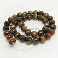 TE3022 Bulk natural tiger eye beads, smooth loose stone beads for jewelry making