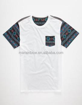 0b301766 Tribal pattern sublimation print pocket t shirt. high quality pocket tee  with tribal design