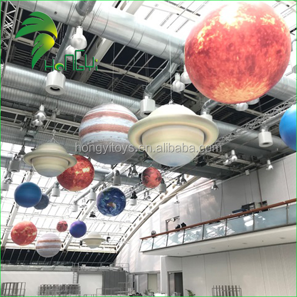 Wholesale Inflatable Nine Soalr Planets Inflatable LED Planets For Decoration