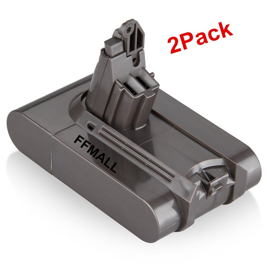FFMALL 21.6V 2.2Ah for Dyson Replacement Battery Pack for Dyson DC58, DC61, DC62 Animal Vacuum Cleaner (2200mAh-2pcs)