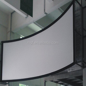 Pvc 3d Curved Fixed Frame Projection Screen/cff074131fwb Curved ...