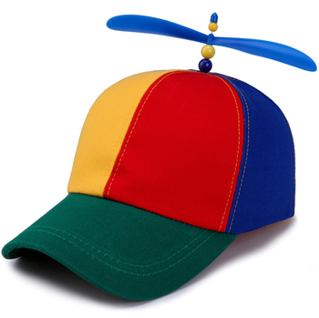 0f3c7c91054 Cotton Adult Multi-color Propeller Helicopter Unstructured Baseball Cap