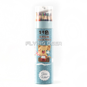 Personalized Artist Grade 24 Pcs 7 Inch Color Pencils In Paper Box