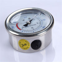 Durable Lightweight Easy To Read Clear bourdon tube liquid filled oil pressure gauge