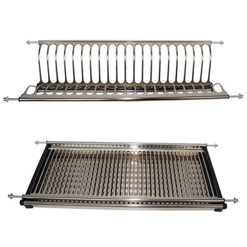 Stainless Steel Wall Mounted Dish Drying Rack Kitchen Cabinet