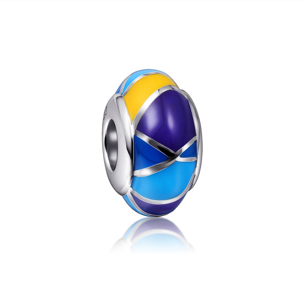 sterling silver 925 enamel beads jewelry beads with brand custom beads