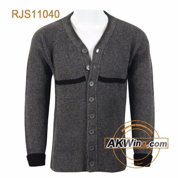 Akwing Sweden Military Sweater 100% Wool Cardigan Rjs11040 - Buy ...