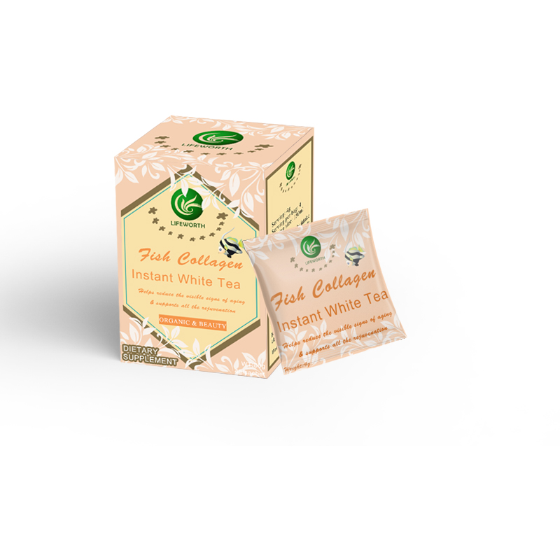 Lifeworth hydrolyzed fish collagen protein white tea powder - 4uTea | 4uTea.com