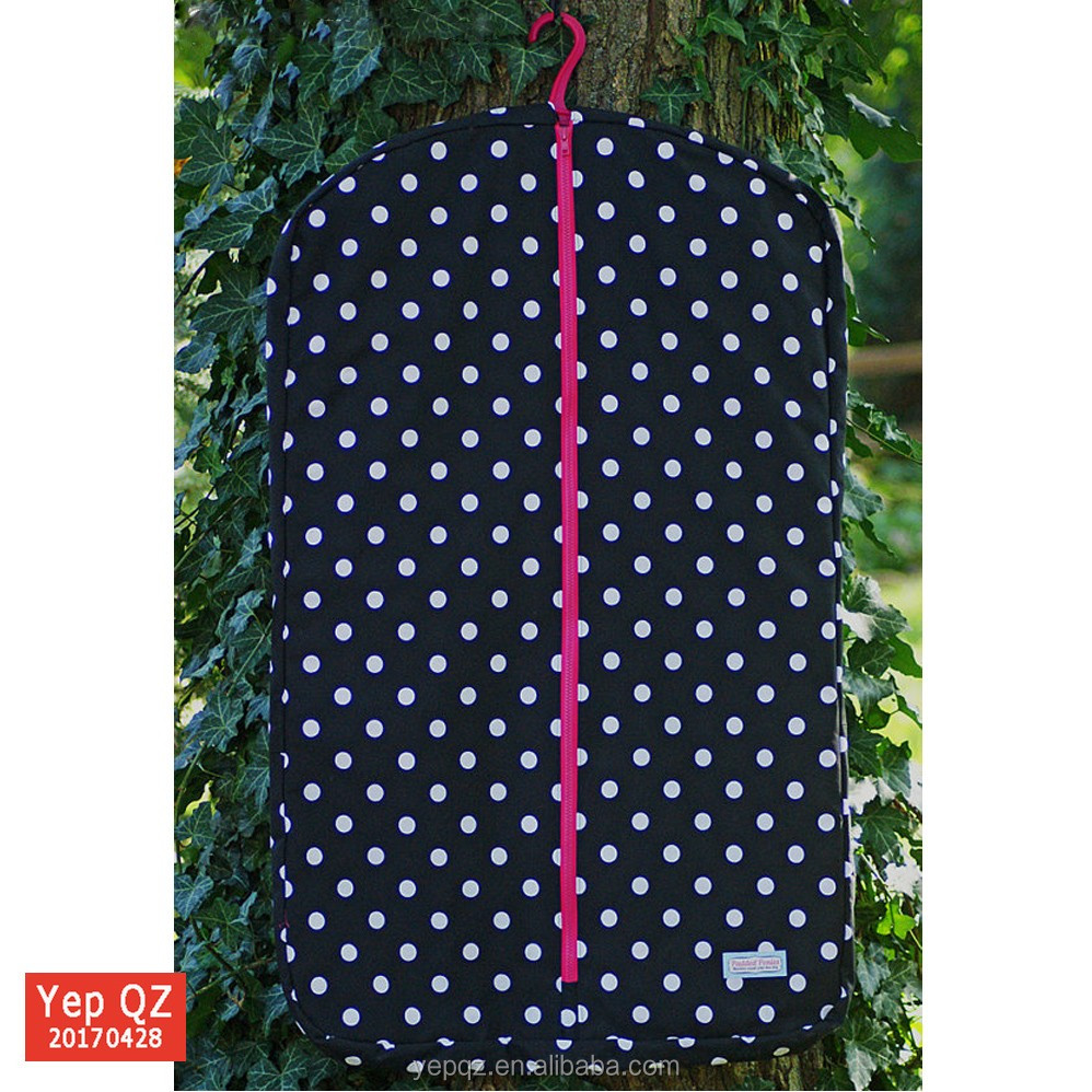 High quality navy color custom silk screen printing 100% cotton garment bag wholesale suit cover with gusset
