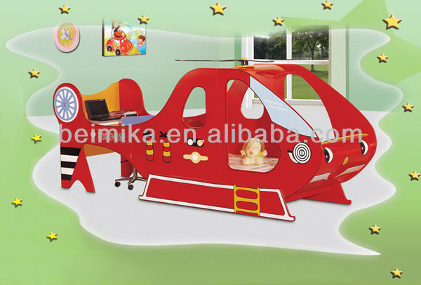 Kinderbett hubschrauber  Hubschrauber bett mit schreibplatte kinder bett mit studie tisch ...