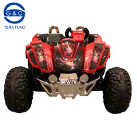 Rocket Dirt Racer - 12v Ride On Electric Kids Ride on 2 Seater Quad Car Jeep (Black/Red)
