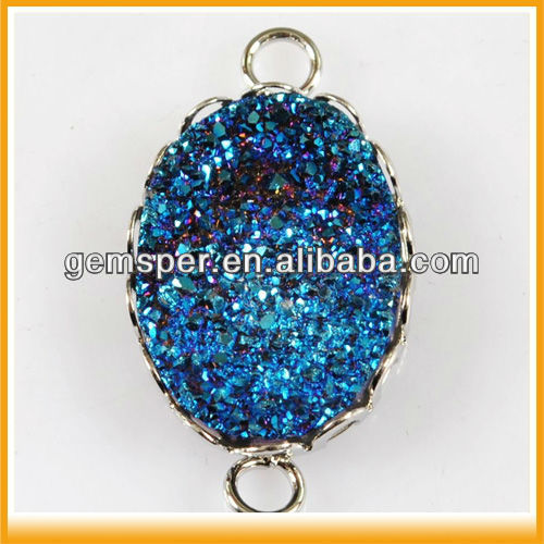Titanium Druzy Connector Jewelry Findings Wholesale D040414