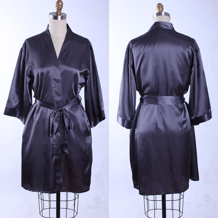 plus size black white kimono robe de chambre silk satin robe dressing gowns for women long. Black Bedroom Furniture Sets. Home Design Ideas