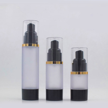 Hengjian 30 ml frosted skin care cream cosmetische airless plastic lotion fles met transparante cap