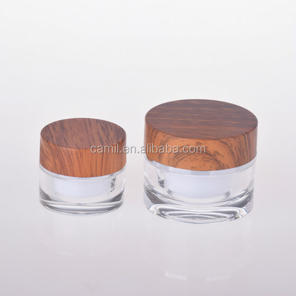 plastic bamboo 10ml cream jar cosmetic container 5ml package jar
