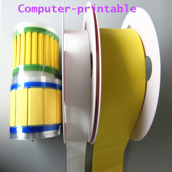 heat shrinkable identification cable marker tube for cable wire marking