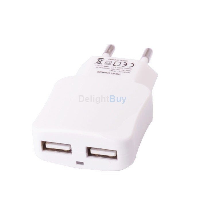 Power 2-Port USB Travel Wall Power Charger Adapter 3.1A 5V output for Cell phone