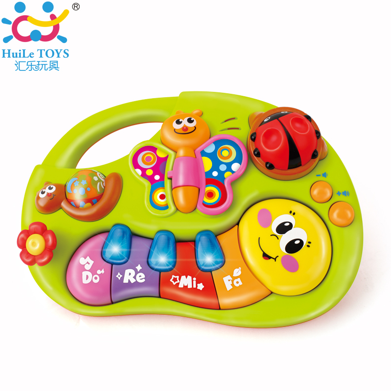 2017 Huile Toys Baby Musical Instruments Piano Toys With Light