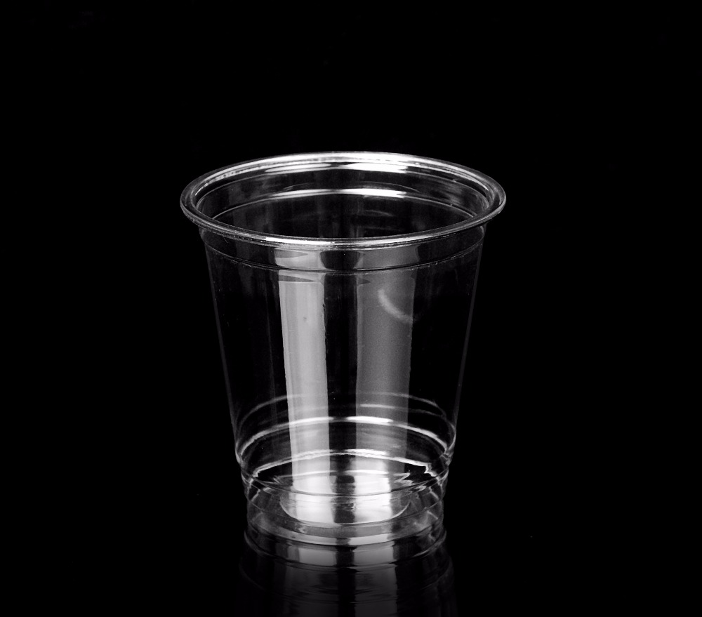 Clear Plastic Mini Cup Jelly PET Fruit Packaging Container 8 oz
