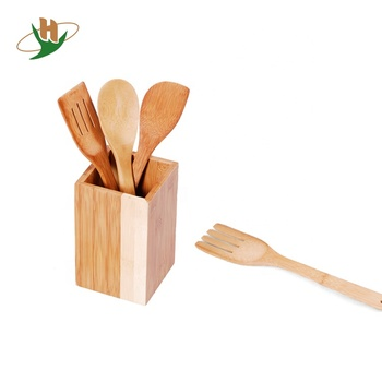 Eco Friendly 4 Pieces Organic Kitchen Bamboo Cooking Utensil Set With Holder Buy Bamboo Kitchen Utensilsbamboo Cooking Utensilsbamboo Cooking