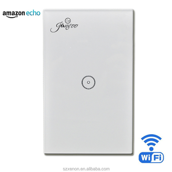 Jinvoo Wifi Wall Light Touch Panel Switch,Work With Alexa,Remote ...