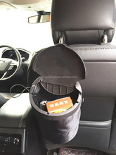 The new folding car trash can and seat back storage bag