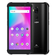 2019 AGM <span class=keywords><strong>X3</strong></span> Kasar Ponsel 8 GB + 64 GB Smartphone Android 5.99 Inch Android 8.1 Ponsel Hitam