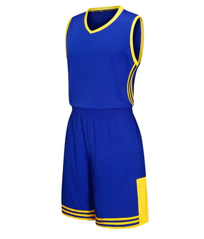 round neck sleeveless Plain blank basketball wear sport suit