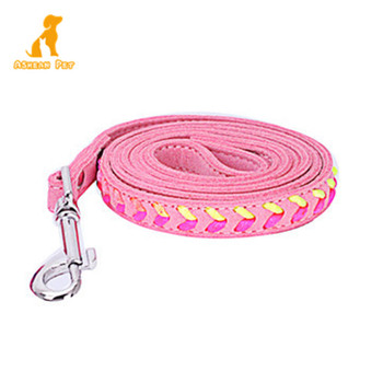 2019 New Quick Release Multicolor Braided Leather Dog Leash