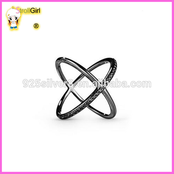 Sterling Silver With Black Stone Ring Black Gold X Ring Buy