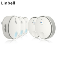 Linbell G2 wireless mp3 doorbell relay ringtone siren UK Plug with 2 transmitters and 3 receivers